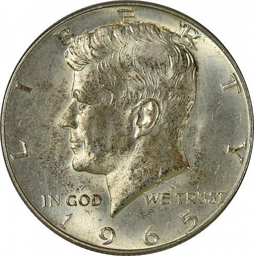 1965 Kennedy Half Dollar,  (Item 160)