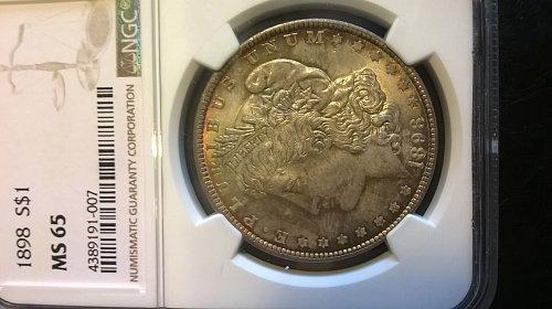 1898 Morgan Dollar NGC MS-65
