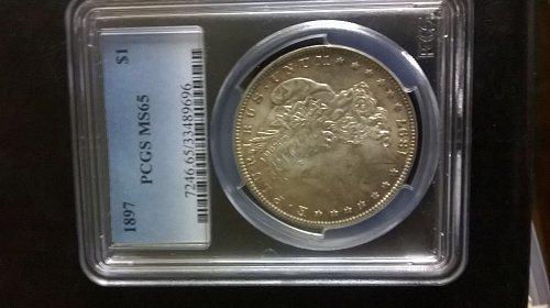 1897 Morgan Dollar PCGS MS-65