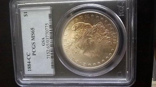 1884-CC GSA Morgan Dollar PCGS MS-65