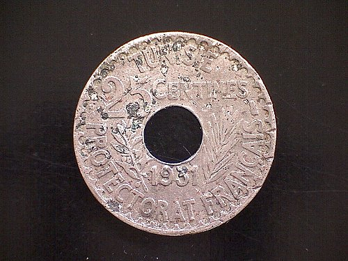 1350/1931 TUNISIA TWENTY-FIVE CENTIMES