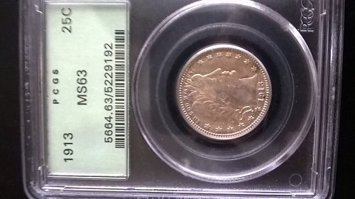 1913 Barber Quarter PCGS MS-63