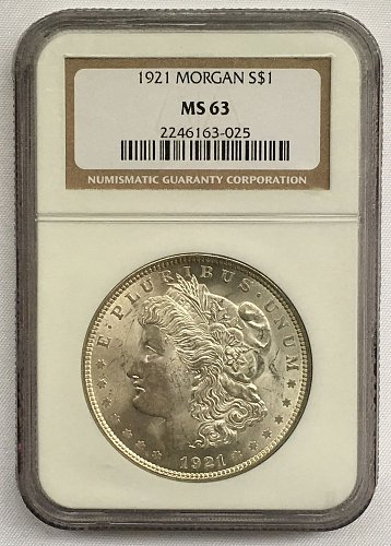 1921 P Morgan Dollar MS-63
