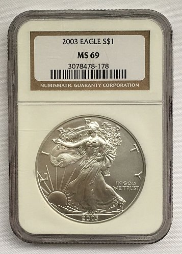 2003 W American Silver Eagle NGS MS-69