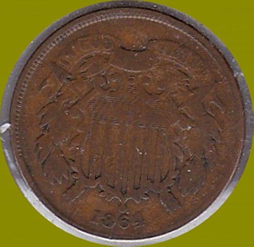 1864 2 cent piece    2C       (#275)