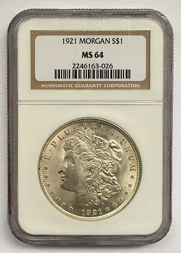 1921 P Morgan Dollar MS-64