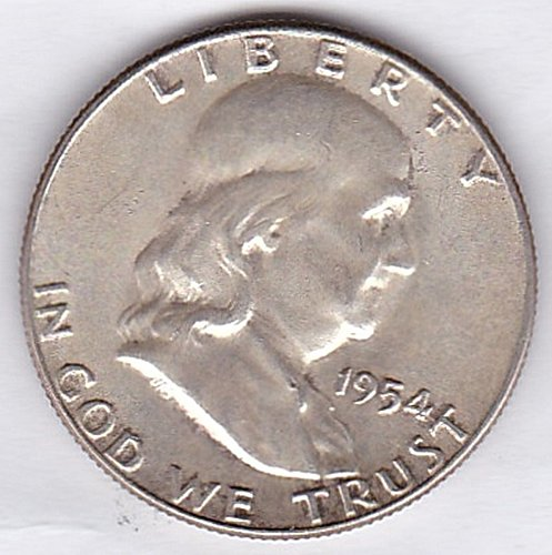 1954 Franklin Half Dollar 50C *** (277)