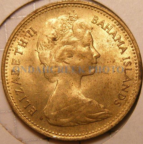 Bahamas 5 Coin Cent Lot 1966 - 1969