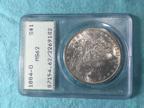 1884-O Morgan PCGS certified MS62