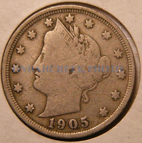 1905 Liberty Head V Nickel VG