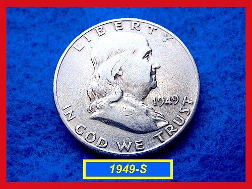 1949-S  Franklin Half Dollars ––– Circulated (#1268)
