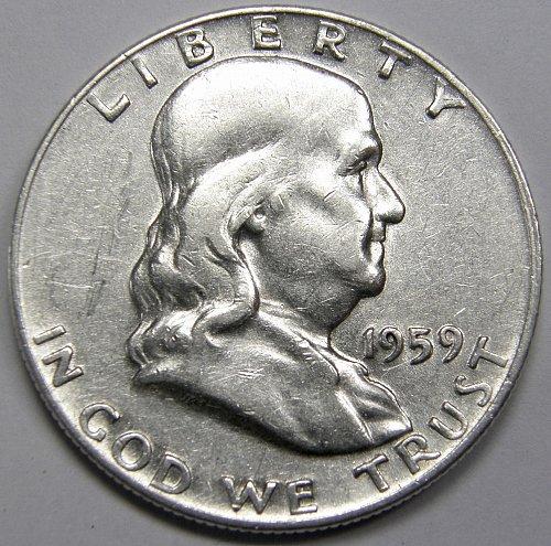 1959 P Franklin Half Dollar #5LE