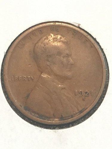 1921 S Wheat Cent