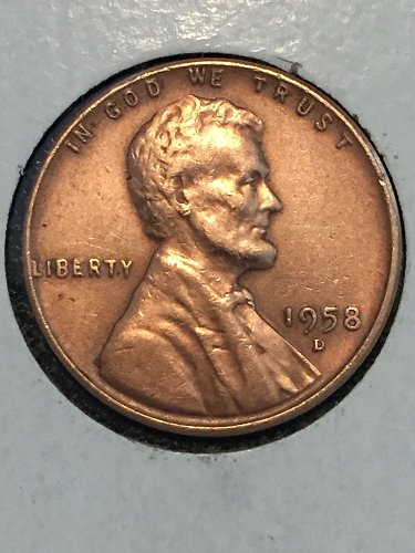 1958 D Wheat Cent