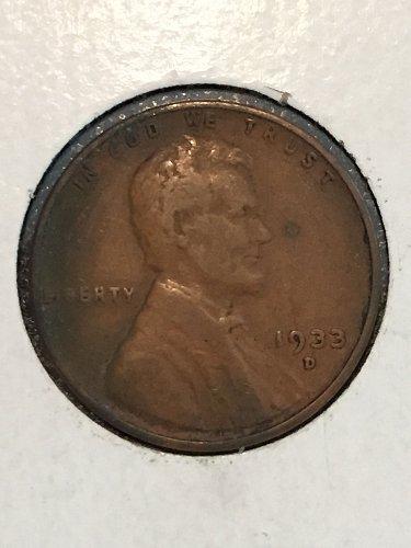 1933 D Wheat Cent
