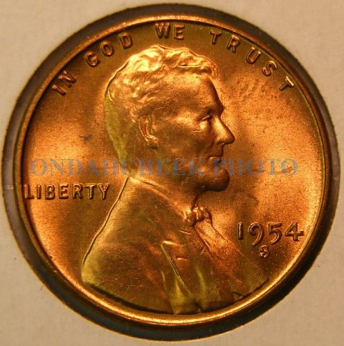 1954-S Lincoln Cent Choice BU Plus