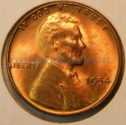 1954-S Lincoln Cent Choice BU