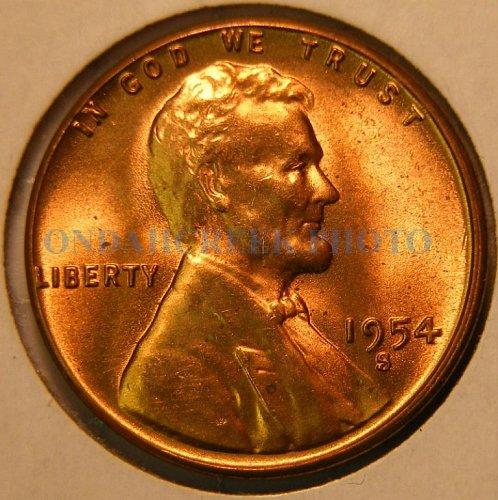 1954-S Lincoln Cent Choice BU Plus