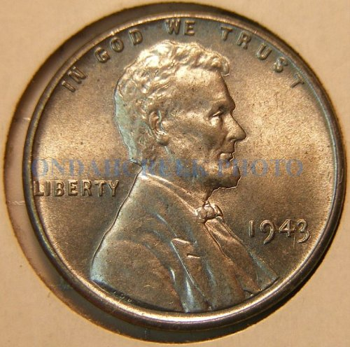 1943 Lincoln Cent Choice BU Plus