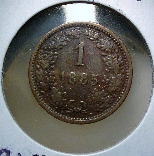 Austria -Hapsburg 1885 1 Kreuzer