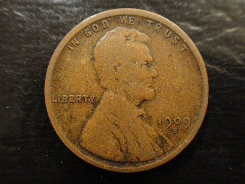 1909-S Lincoln Cent Very Good-8 Textbook Example For Grade!