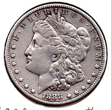 1888 P Morgan Silver Dollar