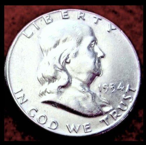 1954-P   Franklin Half Dollar –  Circulated Condition (#1402b)