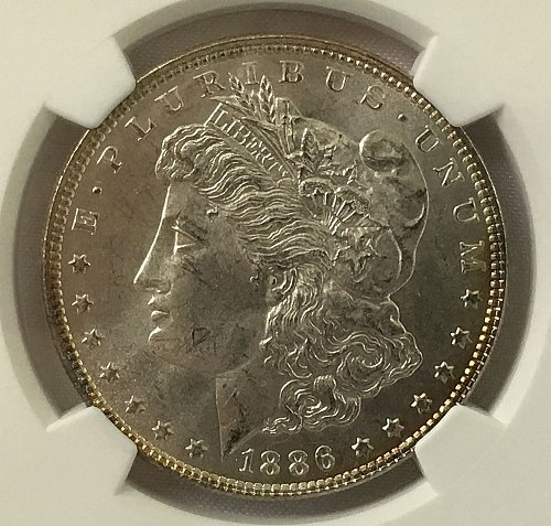1886 P Morgan Dollar - MS-63
