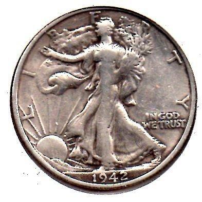 1942 S Walking Liberty Half Dollar