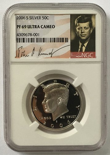 2006 S Kennedy Half Dollar - Silver Proof  NGS PF-69