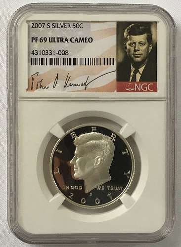 2007 S Kennedy Half Dollar - Silver Proof NGS PF-69