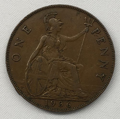 1936 Great Britain One Penny