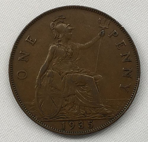 1935 Great Britain One Penny