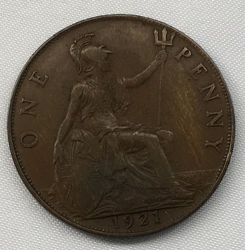 1921 Great Britain One Penny