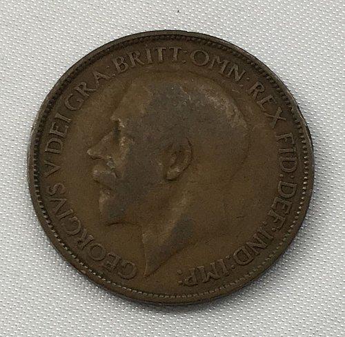 1922 Great Britain Half Penny