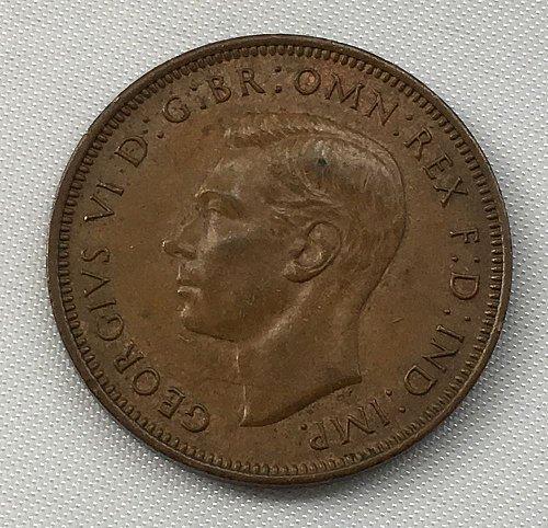 1944 Great Britain Half Penny