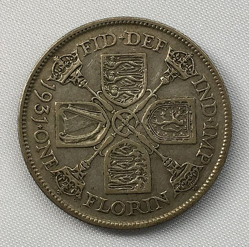 1931 Great Britain Florin .500 Silver