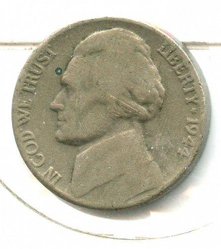 1944 no P nickel