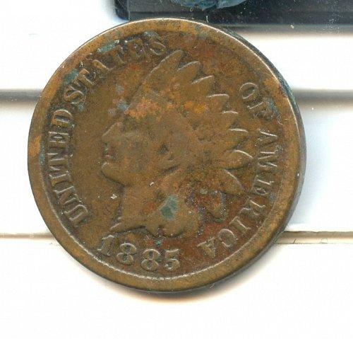 1885 Indian Cent Bronze Philadelphia