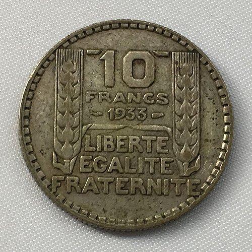 1933 France 10 Francs .680 Silver