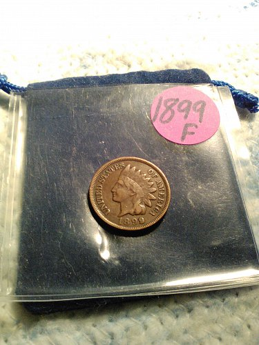 FINE 1899 INDIAN HEAD CENT