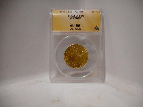 1903 O Coronet Head Gold $10 Eagle