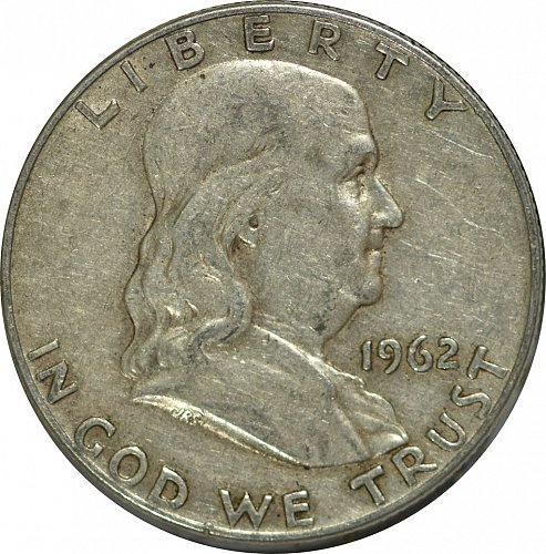 1962 D Franklin Half Dollar, (Item 165)