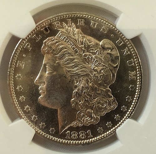 1881 S Morgan Dollar - MS-64   *** Semi-Prooflike ***