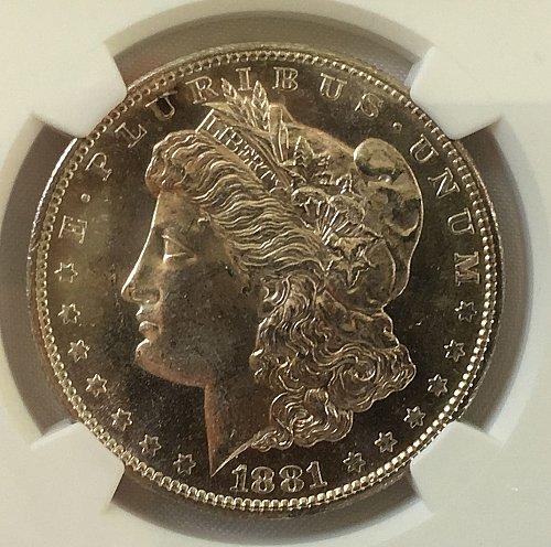 1881 S Morgan Dollar - MS-64   *** Semi-Prooflike ***