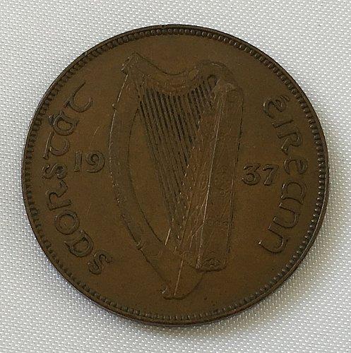 1937 Ireland Republic Penny