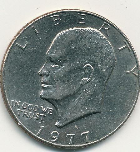 very nice 1977 Eisenhower dollar