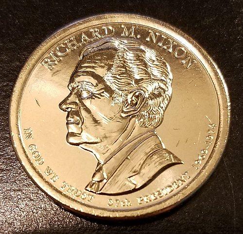 2016-D Richard Nixon Presidential Dollar - From Mint Roll (6421)