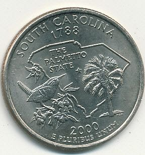 2000P South Carolina state quarter