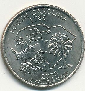 2000P South Carolina state quarter